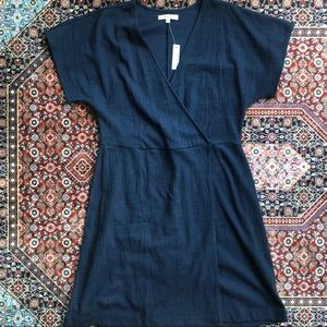 NWT Navy Wrap Madewell Dress